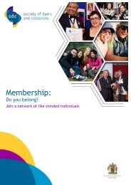 Membership Leaflet - Society of Dyers and Colourists