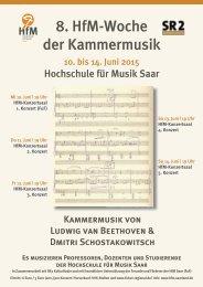 8. HfM-Woche der Kammermusik: Beethoven und Schostakowitsch