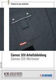 Canvas 320 Arbeitskleidung Canvas 320 Workwear