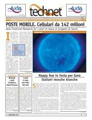 POSTE MOBILE. Cellulari da 142 milioni - Gruppo economisti di ...