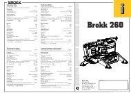 Technical Data Caractéristiques techniques Technische ... - Brokk
