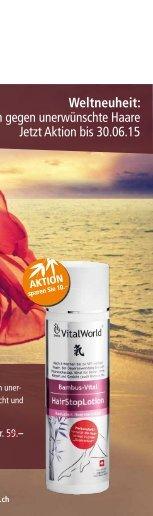 SwissVitalWorld Katalog Mai 2015