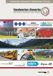 Handwerker- und Gewerbeinfo der Regionen Domleschg, Hinterrhein, Mittelbünden und Viamala
