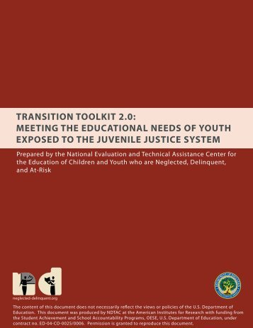 Transition Toolkit 2.0 - NDTAC