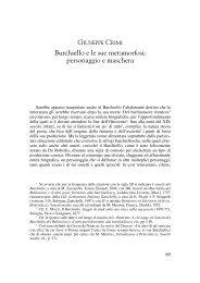 Burchiello e le sue metamorfosi - Italianistica e Spettacolo