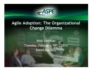 Agile Adoption: The Organizational Change Dilemma - ASPE