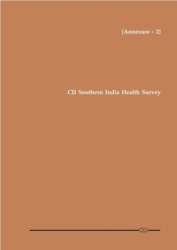 CII Southern India Health Survey - Apollo Life