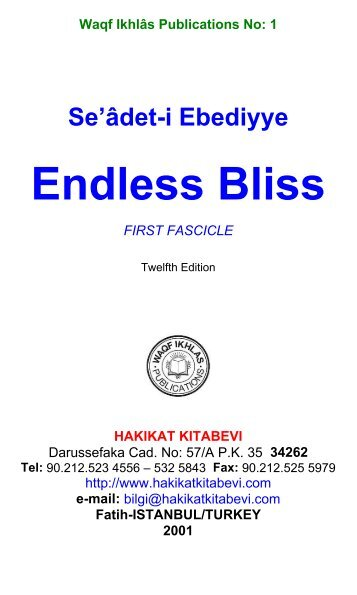 1 - Endless Bliss - Hüseyin Hilmi Işık