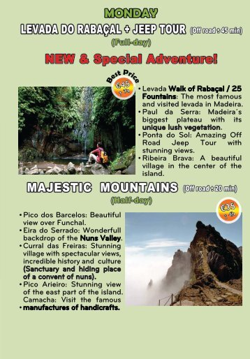 LEVADA DO RABAÇAL + JEEP TOUR NEW & Special Adventure! MAJESTIC MOUNTAINS