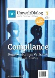 Compliance - UmweltDialog Magazin Nr . 3  (Mai 2015)