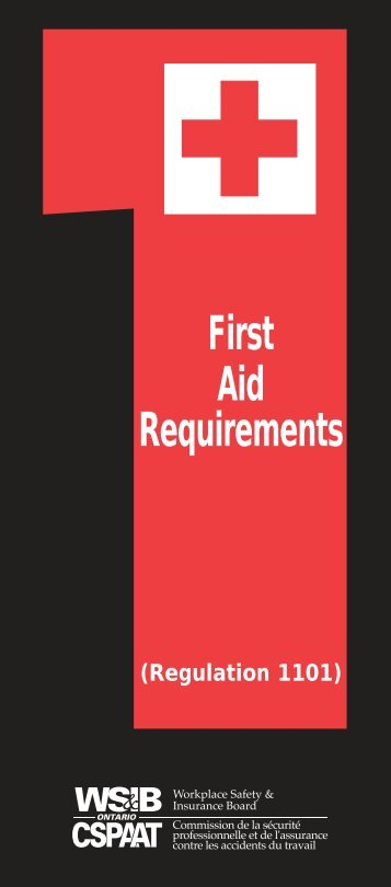 First Aid Requirements - Construction Safety Association of Ontario