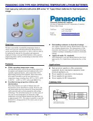 panasonic coin type high operating temperature lithium batteries +