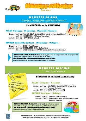 Horaires timetable du 2 for Bettembourg piscine