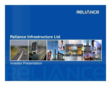 Projects - Reliance Infrastructure