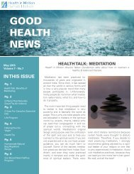 GOOD HEALTH NEWS
