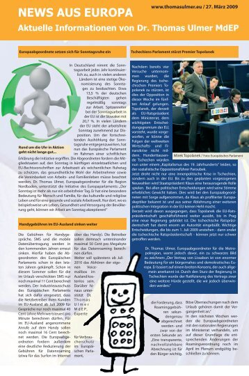 news aus europa 27 maerz 2009.pdf - Dr. Thomas Ulmer MdEP