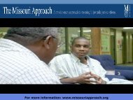 The Missouri Approach: A Revolutionary Approach to Meaningful ...