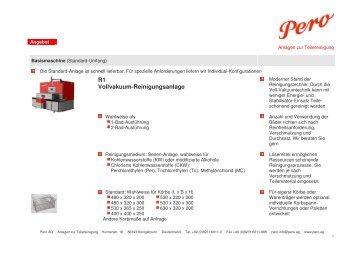 Angebot Pero R1 - PERO AG