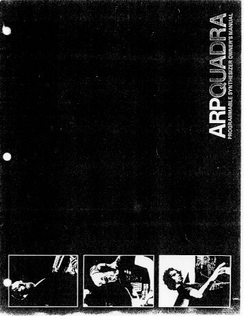 Arp Quadra Owner's Manual - SoundProgramming.Net