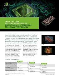 TESLA™ M-CLASS GPU CoMPUTinG ModULES FASTEST - NVIDIA