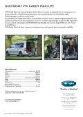 Golvsänkt VW Caddy Maxi Life - Permobil - Page 2