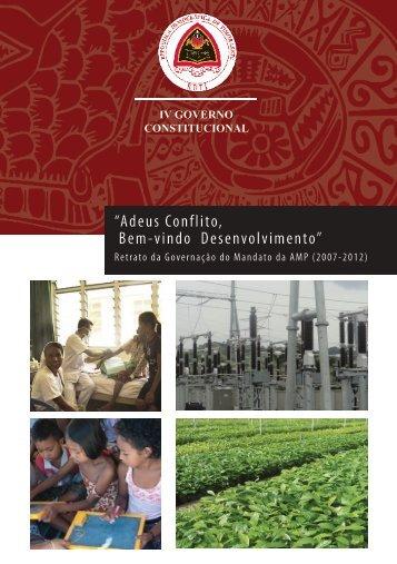 """""""Adeus Conflito, Bem-vindo Desenvolvimento"""" - Governo de Timor ..."""