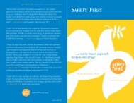 SAFETY FIRST - Drug Policy Alliance