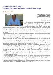 Gentil Viana (1935- 2008) O adeus do camarada ... - Adelino Torres