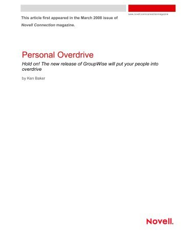Personal Overdrive