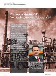 Prozess-Sensoren 2015+ – Innovationswettlauf ist gestartet
