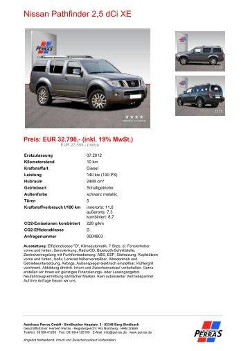 Preis: EUR 32.790,- (inkl. 19% MwSt.) - Autohaus Perras