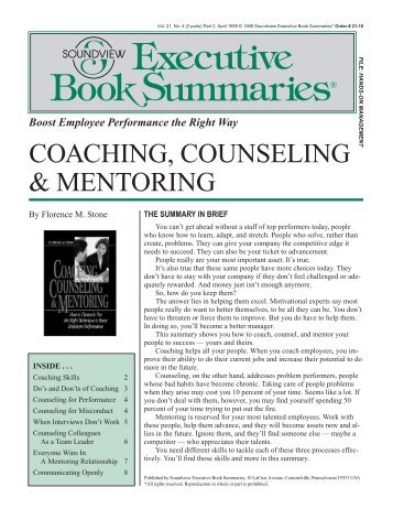 Coaching, Counseling & Mentoring