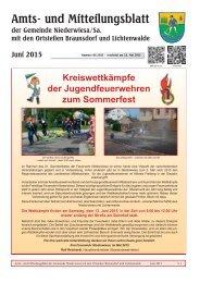 Amts- und Mitteilungsblatt Niederwiesa Juni 2015