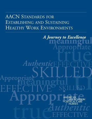 Healthy Work Environments: Standards - American Association of ...