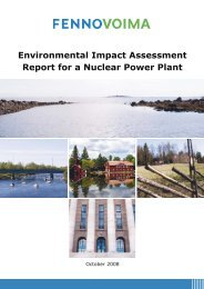 Environmental Impact Assessment Report for a Nuclear Power Plant