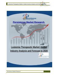 Leukemia Therapeutic Market: Global Industry Analysis and Forecast to 2020