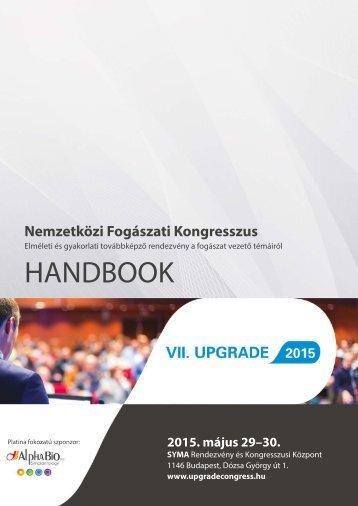 Upgrade 2015 Kongresszus programfüzet