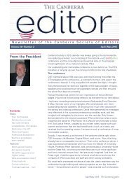 The Canberra editor April-May 2015
