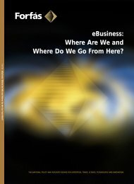 eBusiness: Where Are We and Where Do We Go From Here? - Forfás