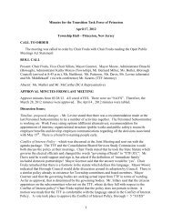 Minutes for the Transition Task Force of Princeton April 17, 2012 ...