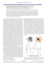 Tuning micropillar cavity birefringence by laser induced surface ...