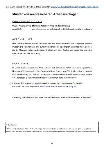 muster von rechtssicheren arbeitsvertrgen berufszentrum abis ek - Personalbeurteilungsbogen Muster
