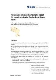 Regionales Einzelhandelskonzept für den Landkreis Grafschaft Bent ...