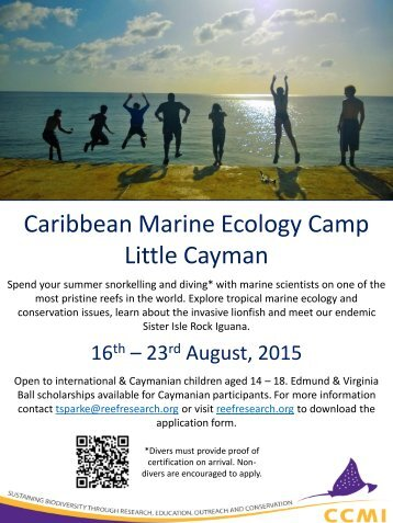 Caribbean Marine Ecology Camp in Little Cayman