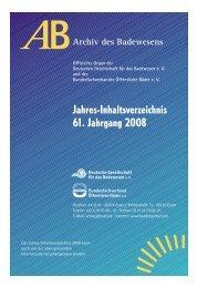 Infokasten - Deutschen Gesellschaft für das Badewesen
