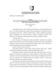 Išvados ir ataskaita dėl Savivaldybei nuosavybės teise priklausančio