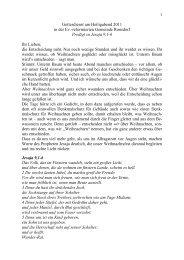Jesaja 9 1-6 - Ev. Reformierte Gemeinde Ronsdorf