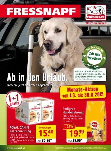Fressnapf Österreich Flugblatt Juni 2015