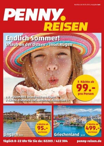 Penny Reisen Prospekt Juni 2015