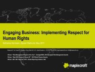 Human rights and Business - Global Compact Nordic Network